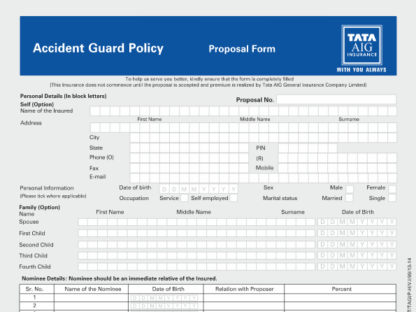 Accidental Shield Tata Aig